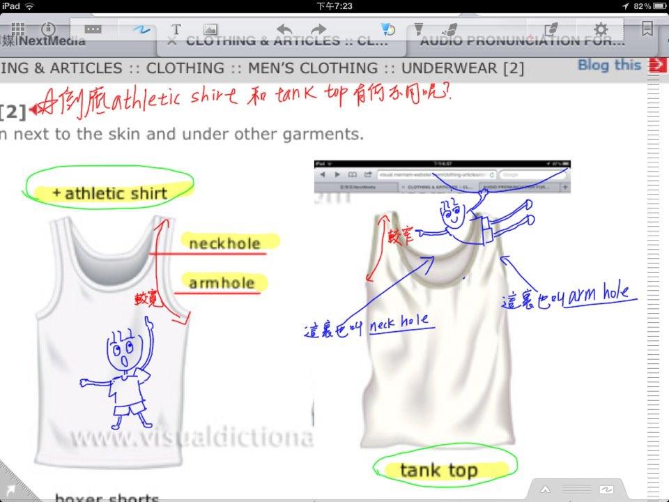 男性短短袖,無袖內衣 athletic shirt 和 tank top 的差別