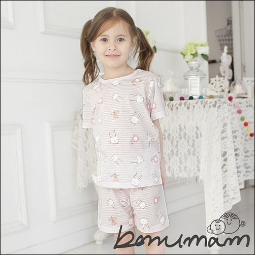 短袖粉色小白兔