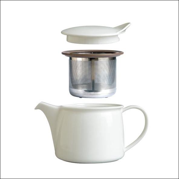 日本 Kinto 全白瓷小茶壺 晝白 450ml2
