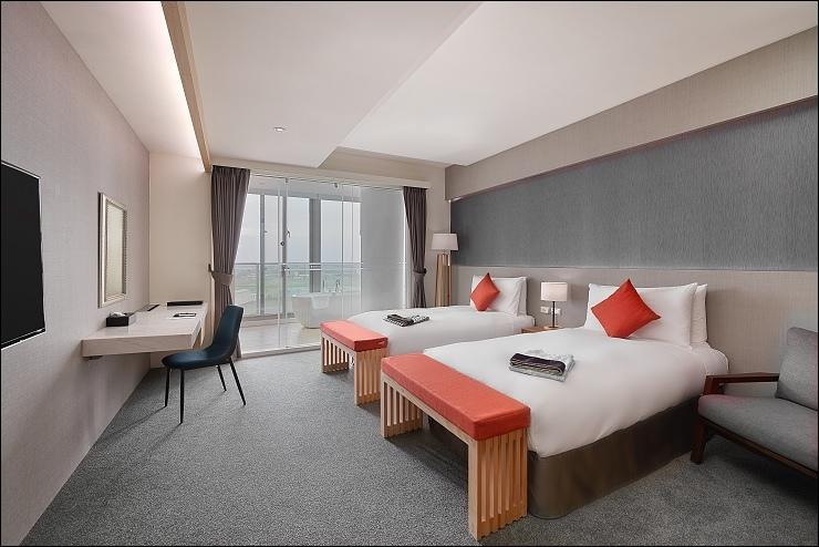 嵐 山景雙人房-兩單床
