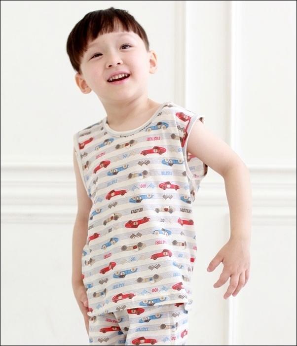 韓國製Tom&Jane無螢光染棉春夏家居服_無袖賽車