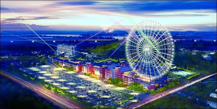麗寶樂園度假園區+摩天輪+outlet+飯店夜景.jpg