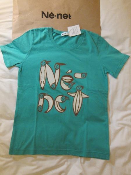 日本設計師品牌Ne-net 全新百貨正品 超可愛LOGO T恤 直購價1980元