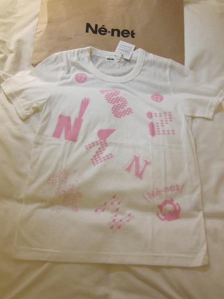日本設計師品牌Ne-net 全新未穿 百貨正品 超可愛輕薄白T恤 直購價1650元