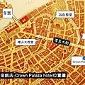 P1290702聖彼得堡-Crown Palaza飯店位置圖