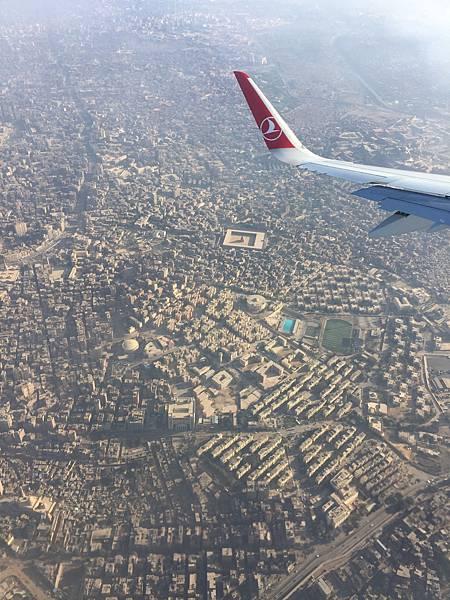 飛機上開羅景色