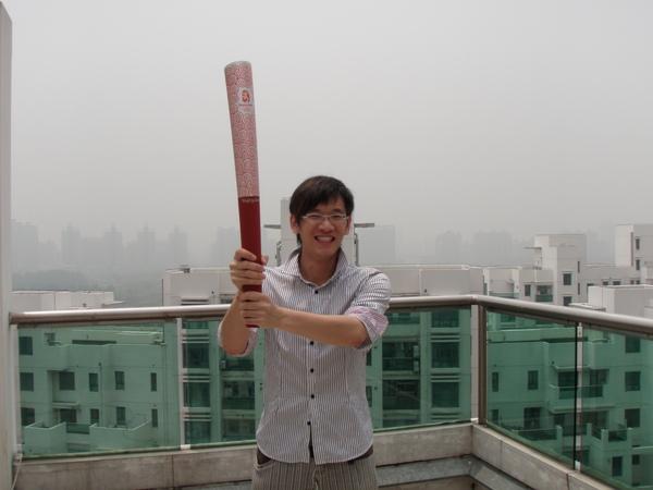 答案就是...北京奧運的聖火火炬...