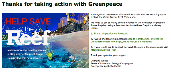 petition greenpeace