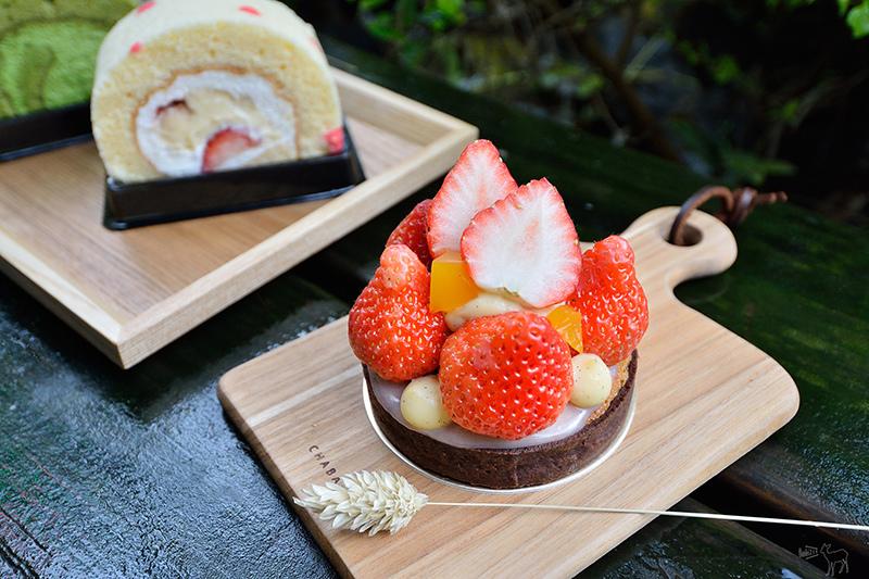 草莓季X抹茶:Project 25 甜食計劃 台北民生社區,生乳捲,京都小山園抹茶捲,草莓玫瑰卡士達捲,小金橘草莓塔