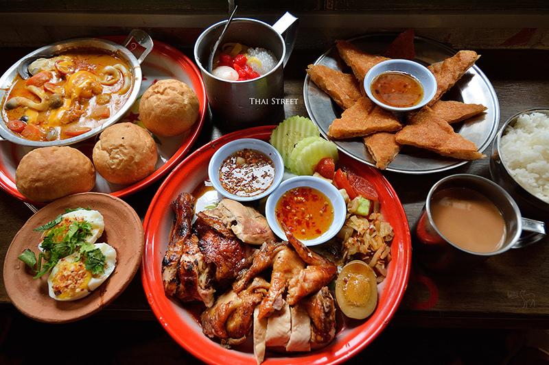 泰街頭:質感泰國風,好吃泰北烤半雞飯.咖哩.摩摩喳喳.月亮蝦餅,台北溫州街美食捷運台電大樓站