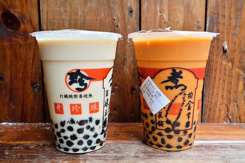 士林夜市美食-珍煮丹黑糖飲品專賣:好香的黑糖珍珠鮮奶與泰式奶茶加珍珠,捷運劍潭站