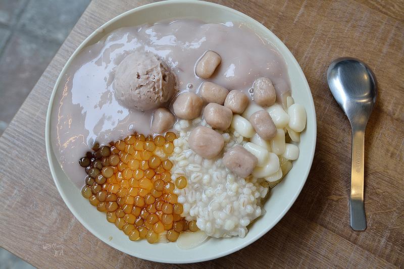 阿爸の芋圓:好吃特別的芋泥粉圓蔗片冰,手工白玉湯圓,永和樂華夜市美食推薦