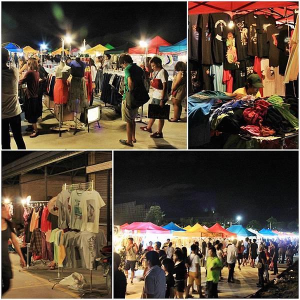 2- 享受泰國市集的感覺——室外區大家正擠擠的在逛街