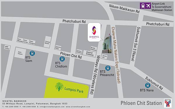 Sivatel Bangkok - Map
