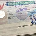 簽證原版貼紙