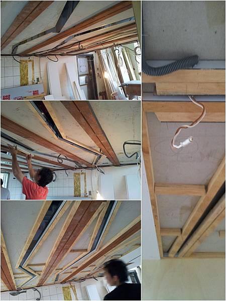 夾層結合木作天花板