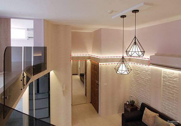 挑高夾層裝潢設計-冷氣管線02