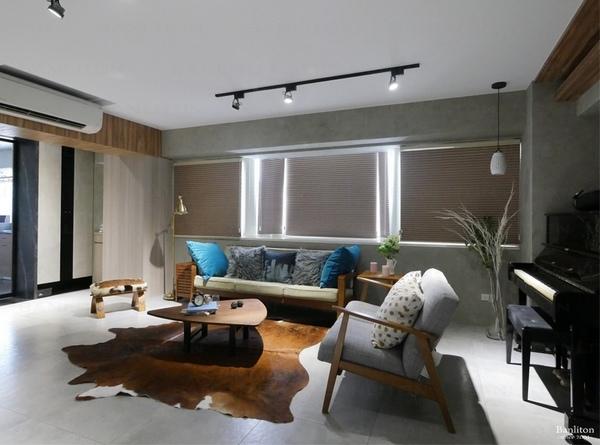 小坪數室內裝潢設計-灰斜美!翻轉狹長型老屋的新價值04.JPG