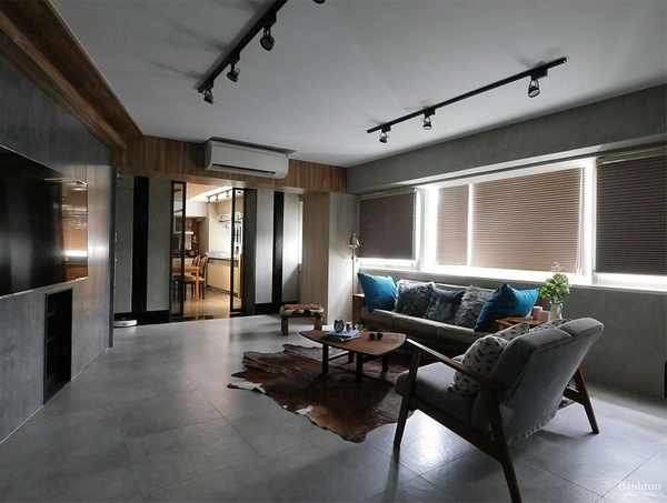小坪數室內裝潢設計-灰斜美!翻轉狹長型老屋的新價值05.JPG