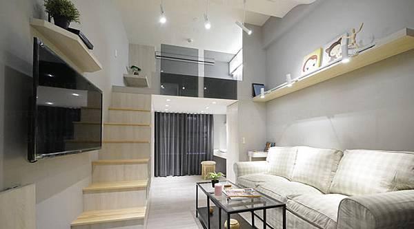 百萬挑高夾層裝潢設計-7坪小套房變身全機能大好宅00.jpg