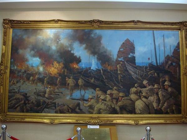 古寧頭戰史館油畫