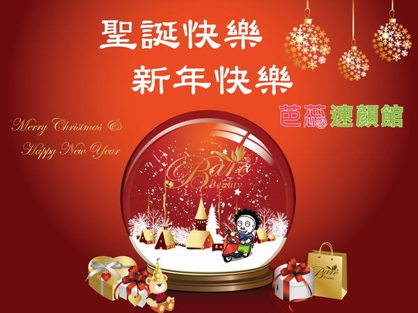 芭蕊嬸雪球祝賀聖誕與新年.JPG