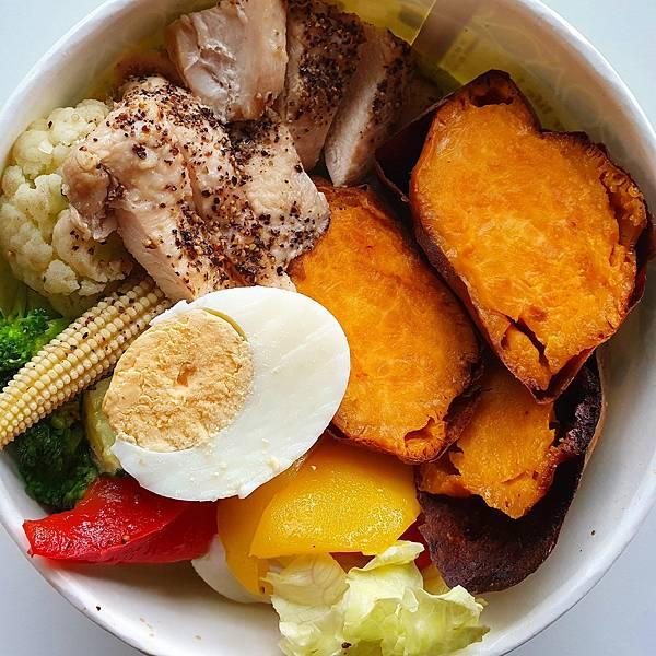 今日午餐:蜜可頌的減醣雞胸肉便當,100元,2021.05.14