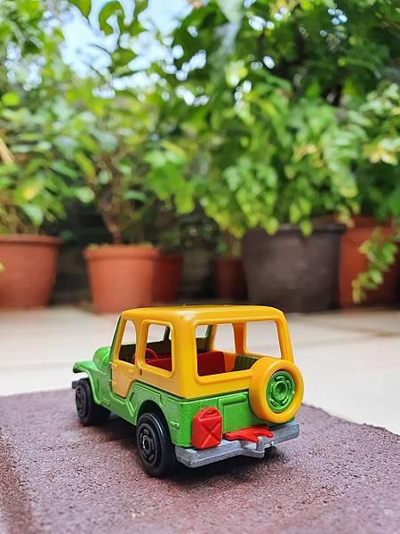 20210713_0731581980年代法國 Majorette 小汽車, Jeep, 金色老鷹吉普車, 編號268, 法國製 Made in France