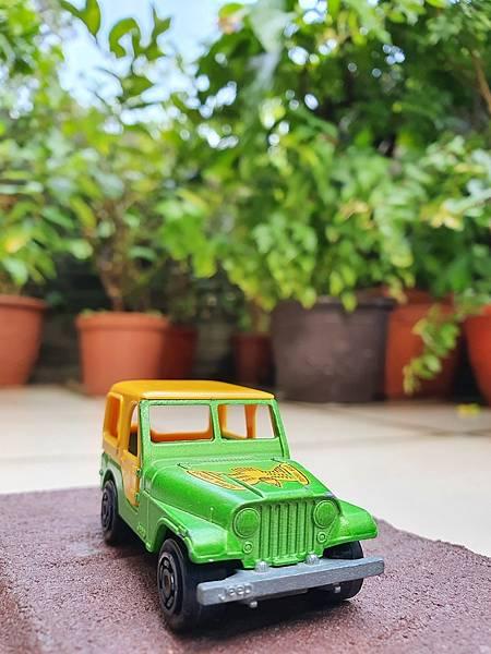 1980年代法國 Majorette 小汽車, Jeep, 金色老鷹吉普車, 編號268, 法國製 Made in France