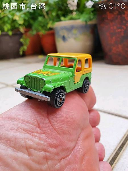 IMG_201980年代法國 Majorette 小汽車, Jeep, 金色老鷹吉普車, 編號268, 法國製 Made in France210713_084252
