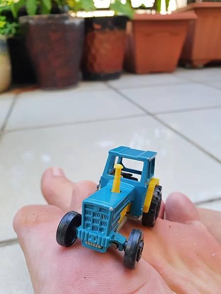 1980年代法國 Majorette 小汽車, 拖拉機, 藍色, 編號208, 法國製, MAJORETTE Tracteur No.208 Bleu, Made in France