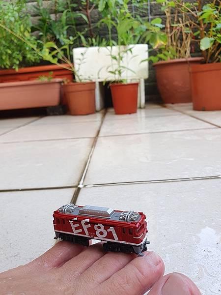 日本 Yodel 模型 1%2F150 Yodel Art Liner Collection 系列鐵道模型,紅色,日立 EF81 95