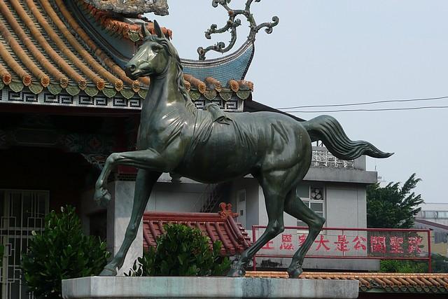 斗六神社的銅馬