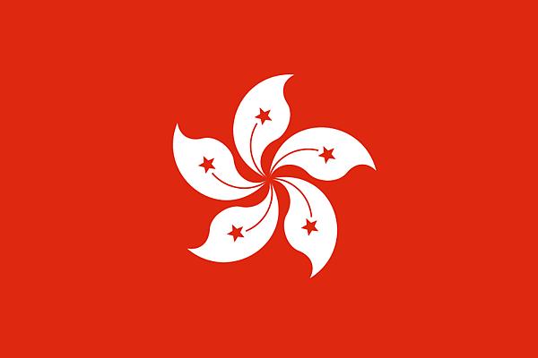 香港區旗繪有洋紫荊