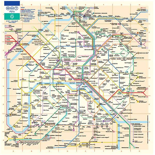 巴黎地鐵圖