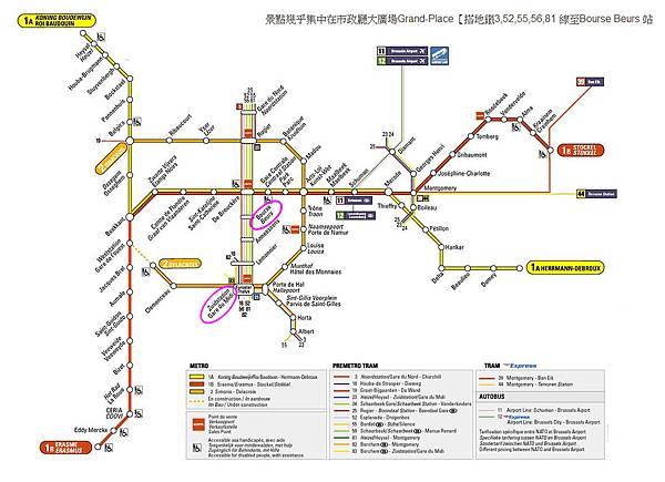 布魯塞爾地鐵圖Bruxelles_metro-1