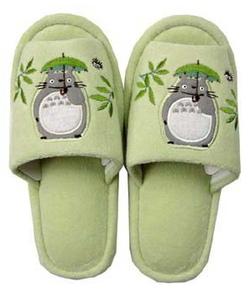 龍貓撐傘拖鞋-1