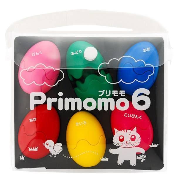 Primomo彩蛋造型無毒蠟筆-6色