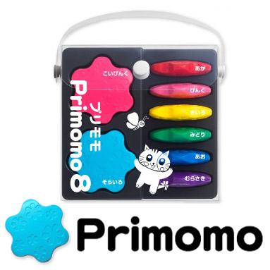 Primomo花朵造型蠟筆-8色