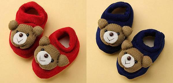 熊熊毛線鞋