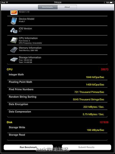 特大號的IPAD....IPAD PRO 128GB(2)-- 效能篇..   - 16