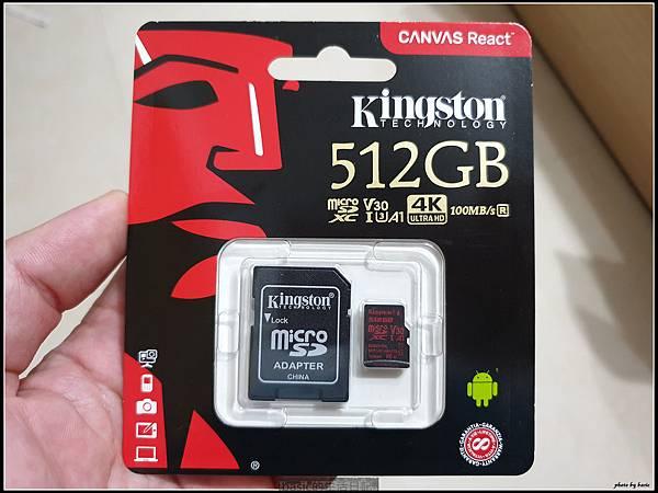 最新海量Kingston 512 GB micro sd記憶卡開箱測試分享