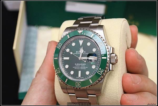 綠綠開箱分享-ROLEX 116610LV綠水鬼 - 8
