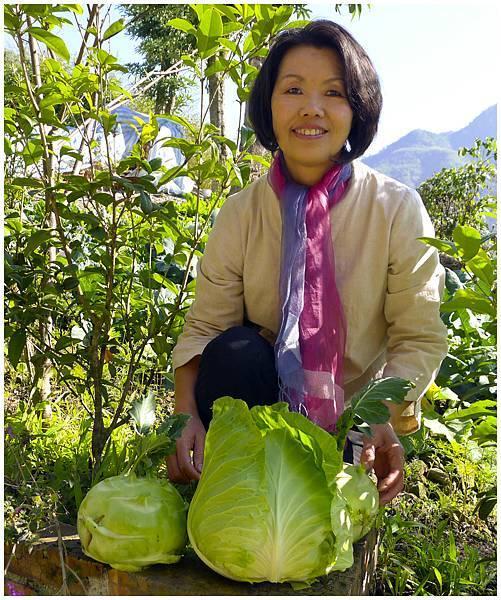 民宿女主人自己種的菜1.jpg