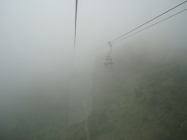 往上有濃霧