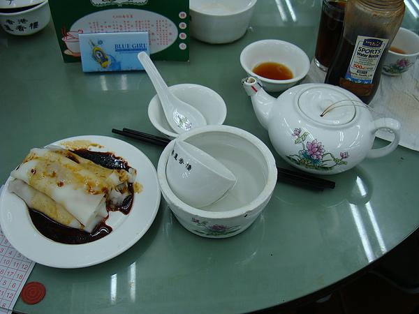 牛肉腸粉 + 香片茶