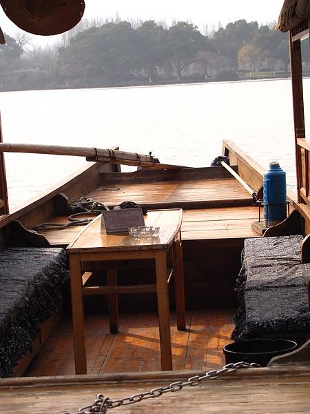 西湖,白堤客船