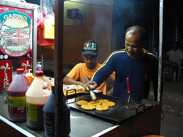 街邊漢堡攤