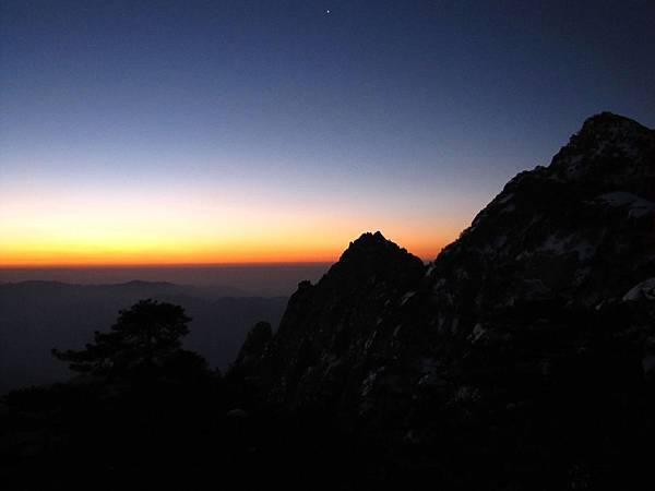 黃山,日出1