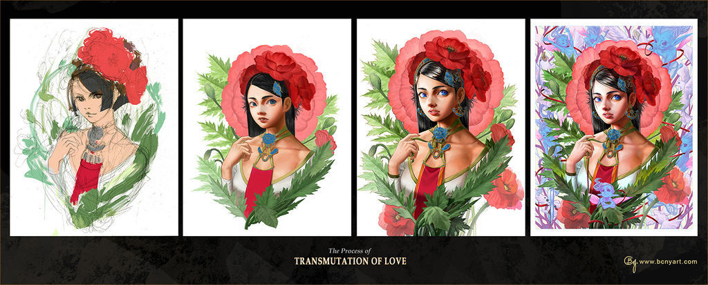 Transmutation of Love_process
